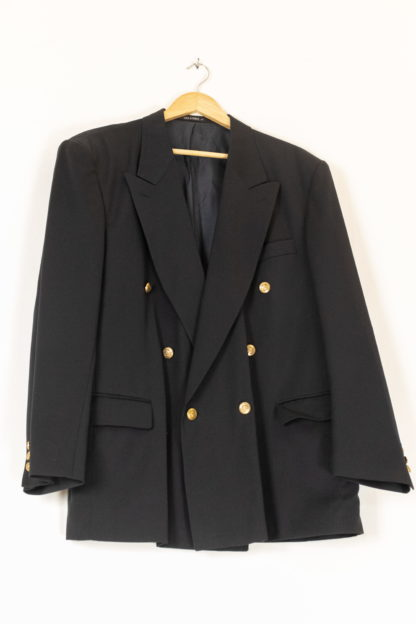 blazer vintage noir à boutons dorés (4)