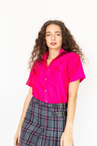 chemise fushia à manches courtes (1)