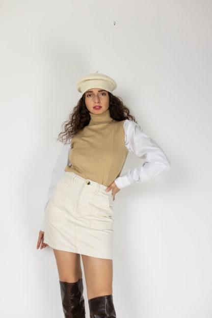 jupe en jean blanc cassé (1)