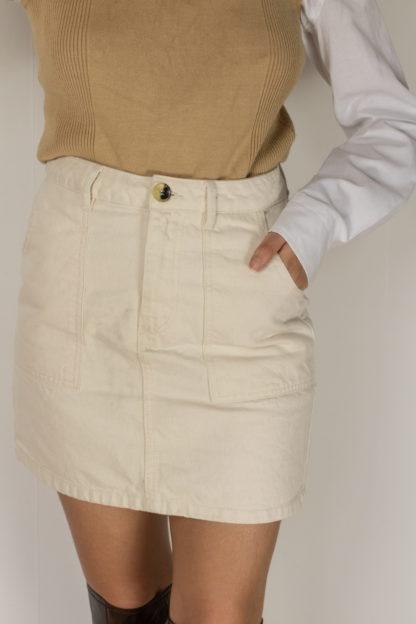 jupe en jean blanc cassé (3)