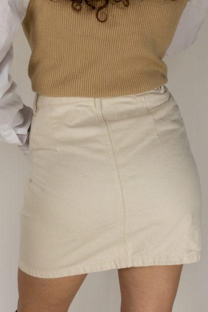 jupe en jean blanc cassé (4)