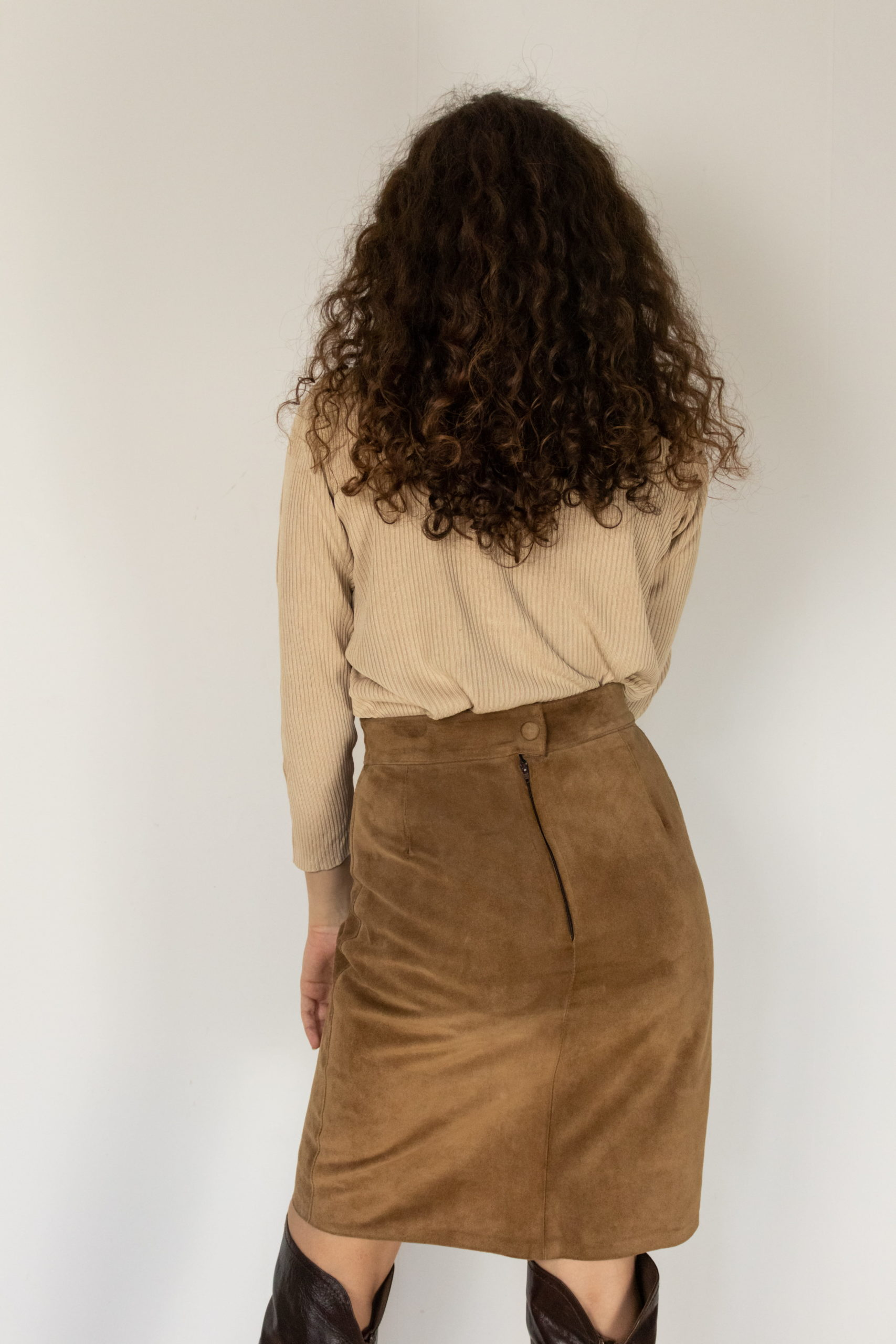 jupe marron en daim (3)
