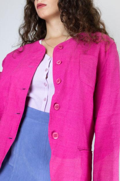 veste vintage fushia (5)