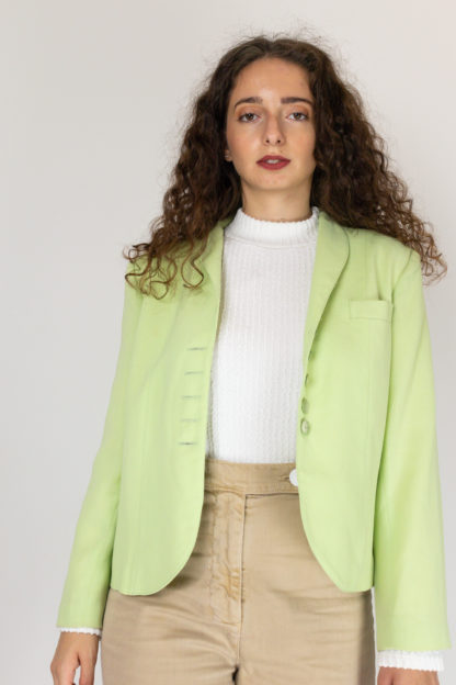 veste vintage vert anis (2)