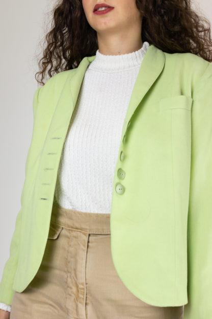 veste vintage vert anis (3)