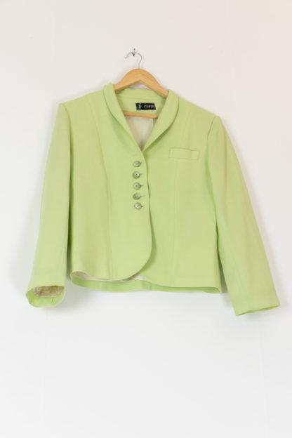 veste vintage vert anis (4)