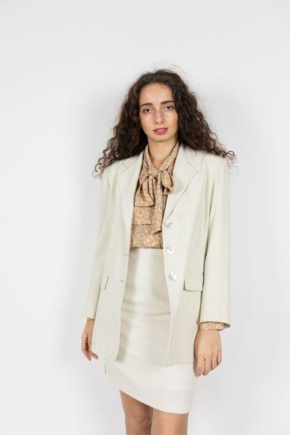 ensemble blazer jupe crème (2)
