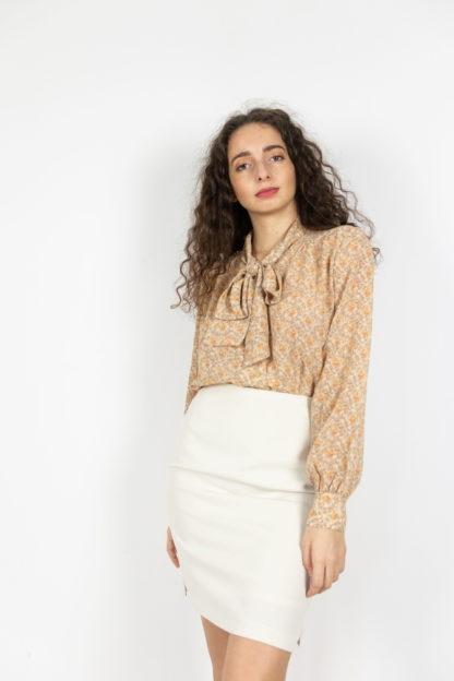 ensemble blazer jupe crème (4)