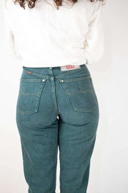 jean vert taille haute (2)