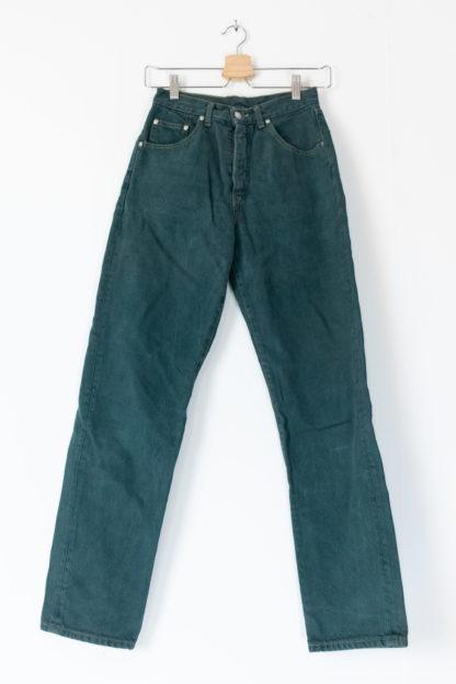jean vert taille haute (4)