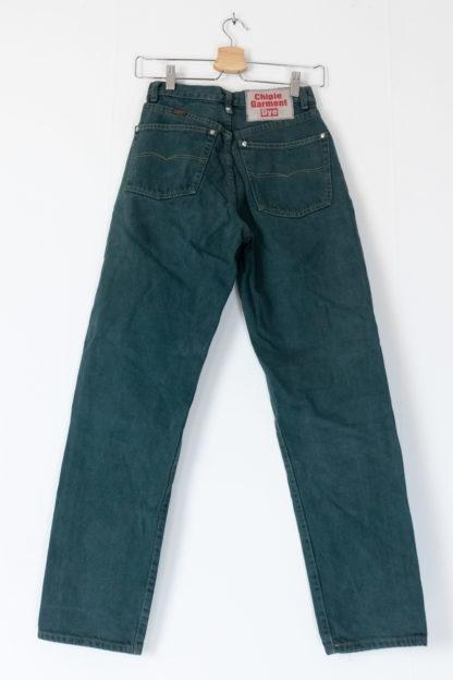 jean vert taille haute (5)