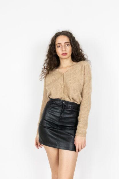jupe noir en simili cuir (1)
