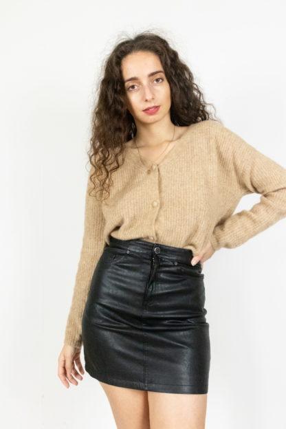 jupe noir en simili cuir (2)