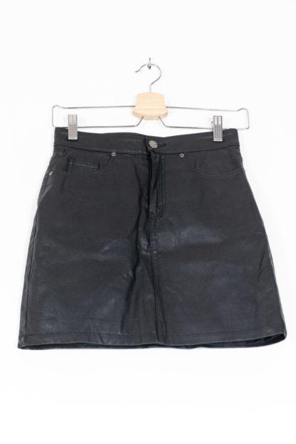 jupe noir en simili cuir (4)