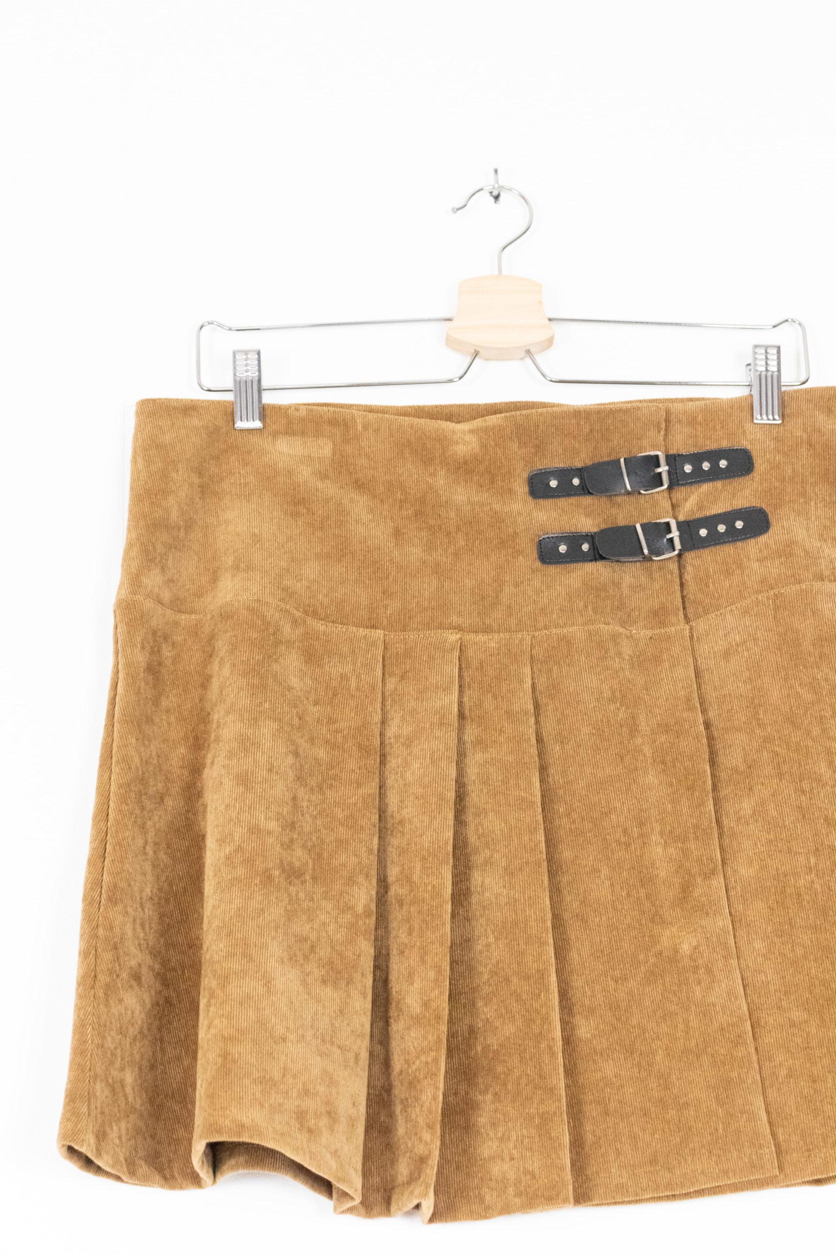 jupe plissée camel (3)