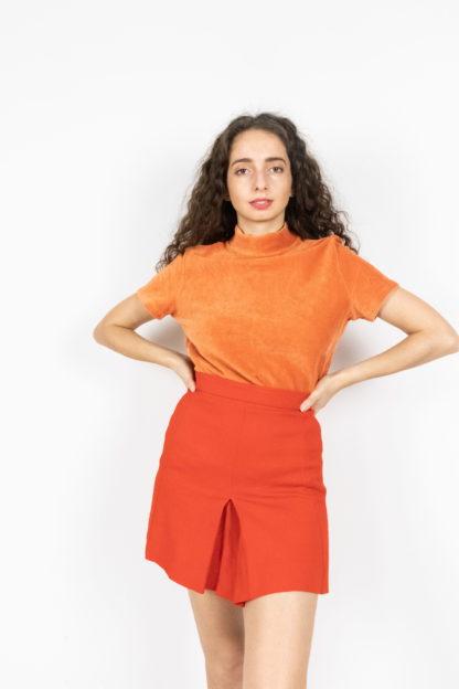 jupe plissée rouge (1)