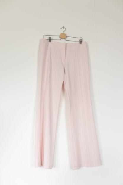 pantalon à pince blanc rayures roses (1)