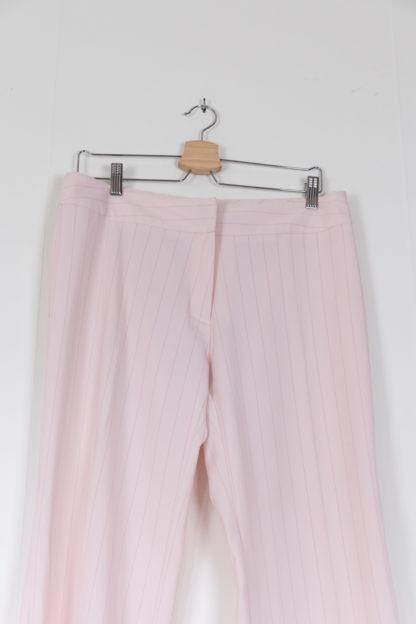 pantalon à pince blanc rayures roses (2)