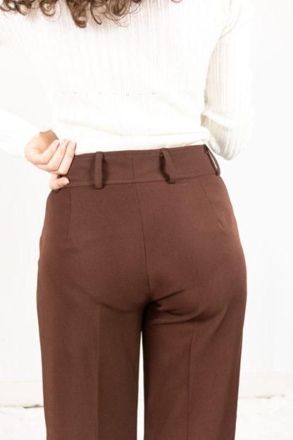 pantalon à pince marron (4)