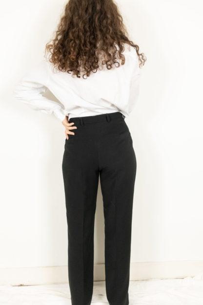 pantalon à pince noir (4)
