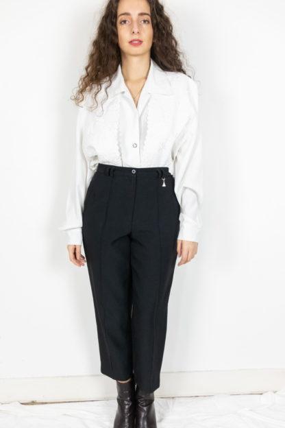 pantalon à pince noir court 3-4 (1)