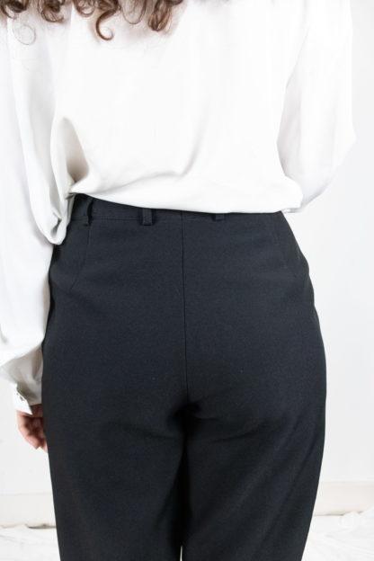 pantalon à pince noir court 3-4 (3)