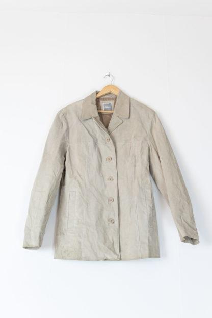 veste en cuir beige mi-longue (4)