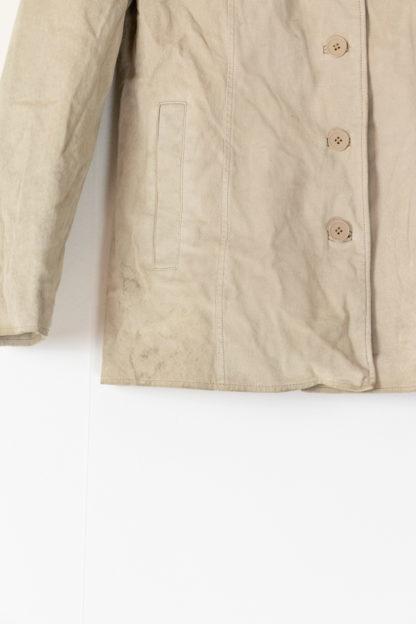 veste en cuir beige mi-longue (5)