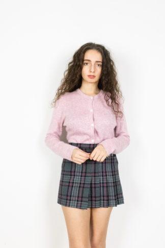 cardigan léger rose et blanc (1)