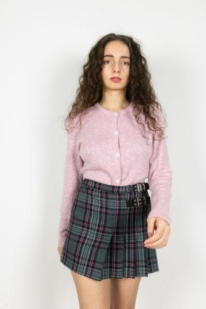cardigan léger rose et blanc (3)