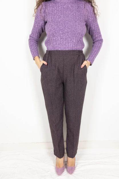 pantalon à pince violet (1)
