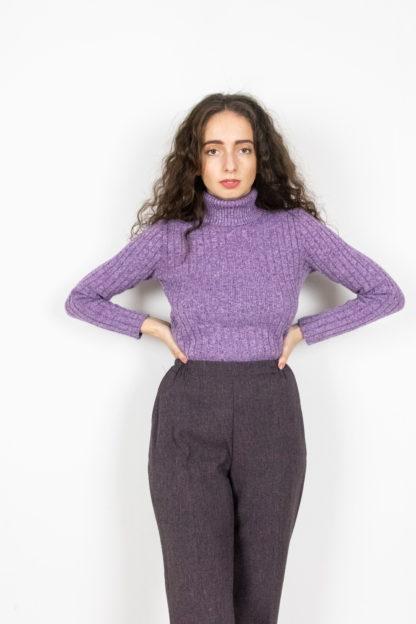 pantalon à pince violet (5)