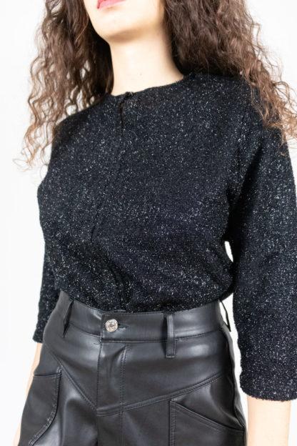 pull fin noir à paillettes (3)