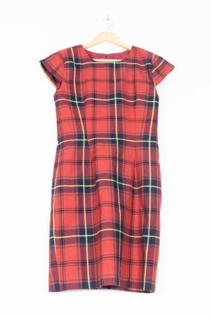 robe manches courtes tartan rouge (5)