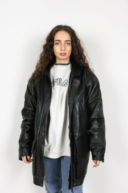 veste en cuir noir fermeture éclair davilux (2)