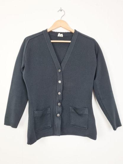 cardigan noir boutons argentés (7)