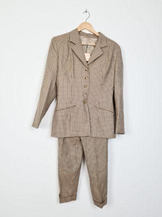 costume 3 pièces vintage à carreaux (1)