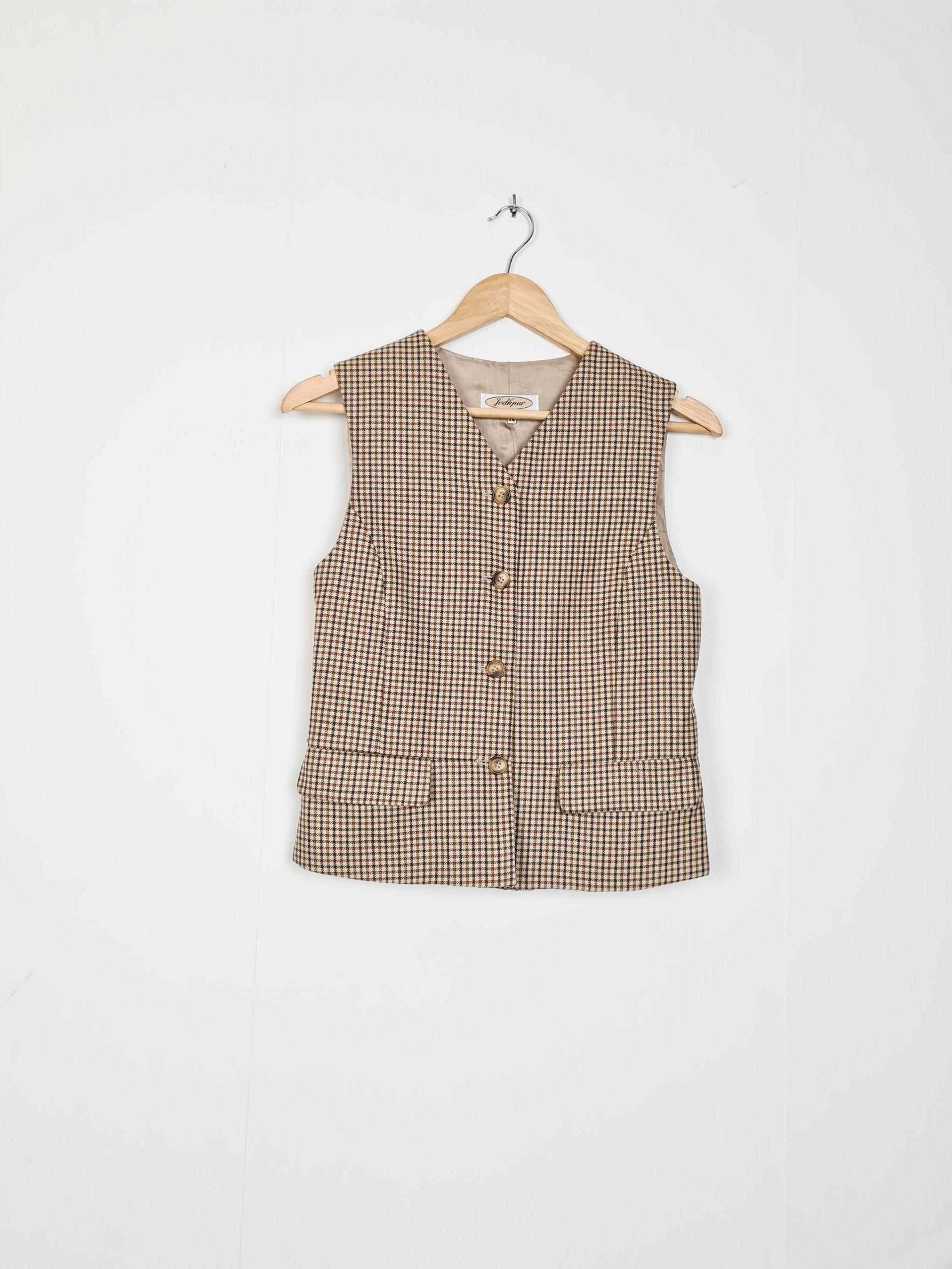 costume 3 pièces vintage à carreaux (4)