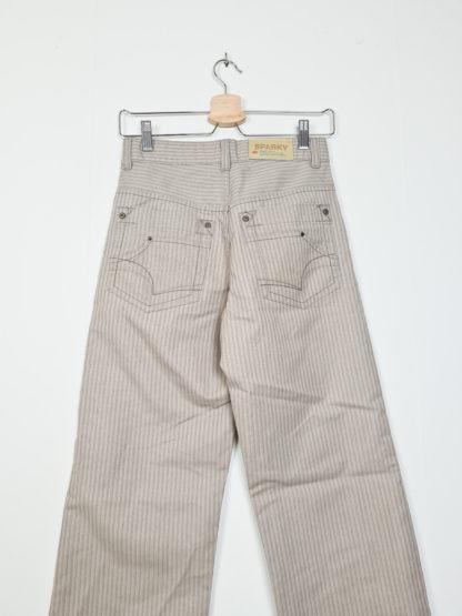 pantalon beige rayé droit (1)
