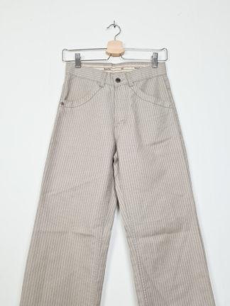 pantalon beige rayé droit (2)