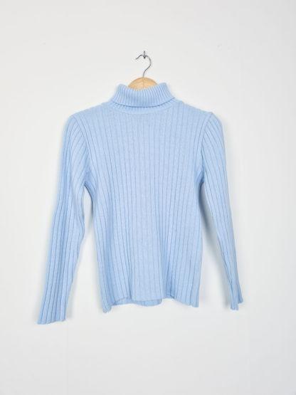 pull bleu pastel cotelé col roulé (5)