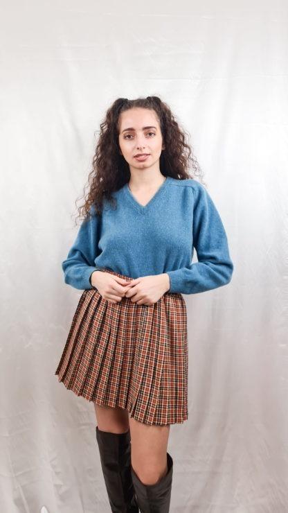pull en laine bleu canard (2)