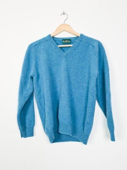pull en laine bleu canard (6)