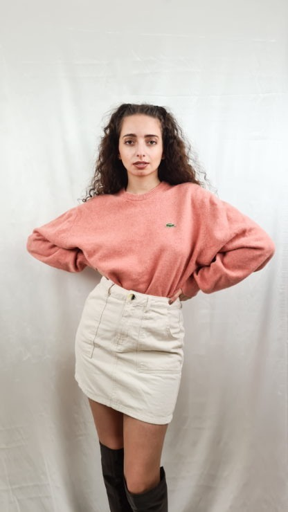 pull rose Lacoste (1)