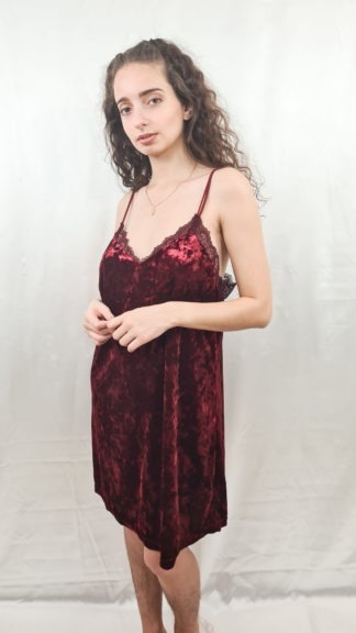 robe bordeaux en velours (1)