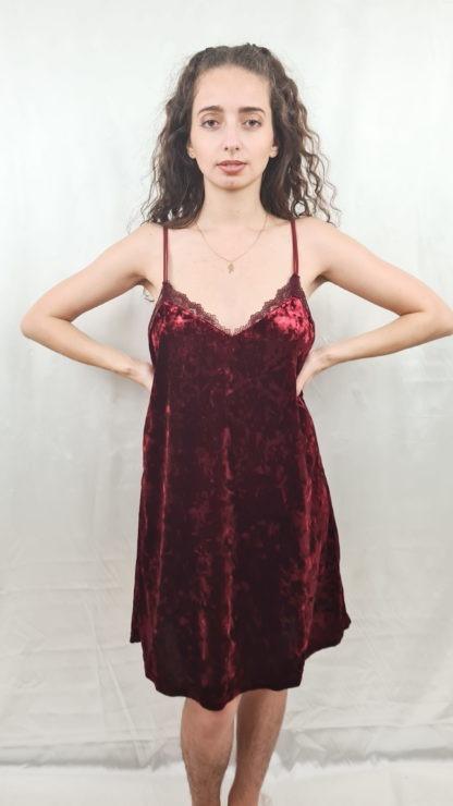 robe bordeaux en velours (2)