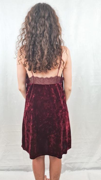 robe bordeaux en velours (3)