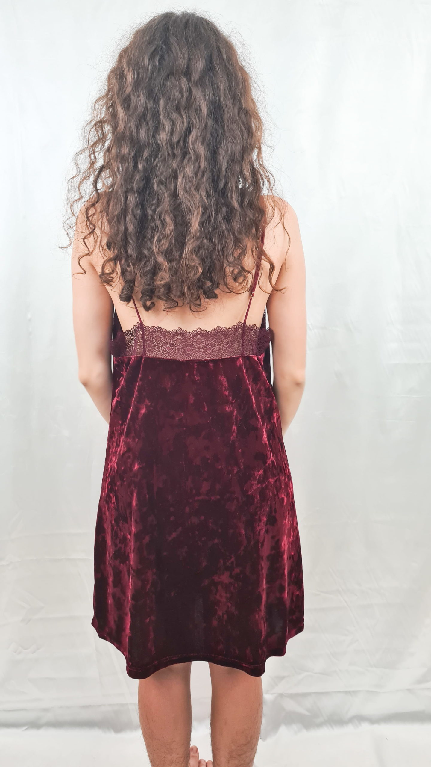 robe bordeaux en velours (3)