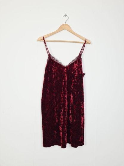 robe bordeaux en velours (5)