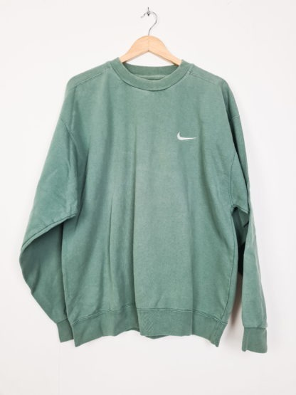 sweat vert Nike virgule poitrine (6)